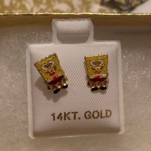 Sponge Bob Earrings 14k✨🌟♥️